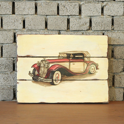 DISPLAY PAINTING CLASSIC CAR